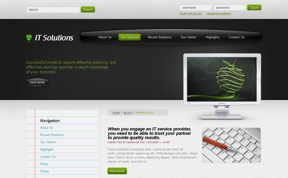 PSD Template over IT  New Screenshots BIG