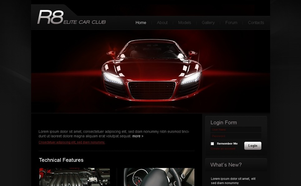 PSD Vorlage für Automobilclub  New Screenshots BIG