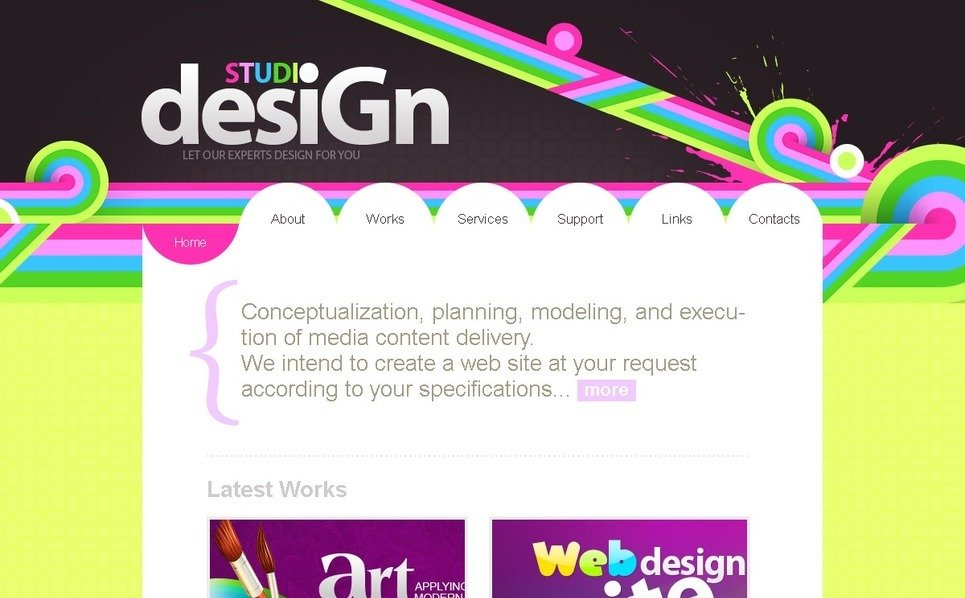 PSD шаблон на тему студія дизайну New Screenshots BIG