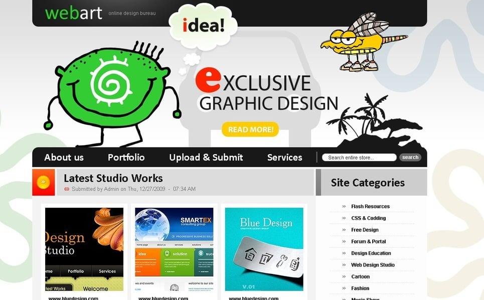 PSD шаблон №50159 на тему Шаблон сайтов студии дизайна New Screenshots BIG