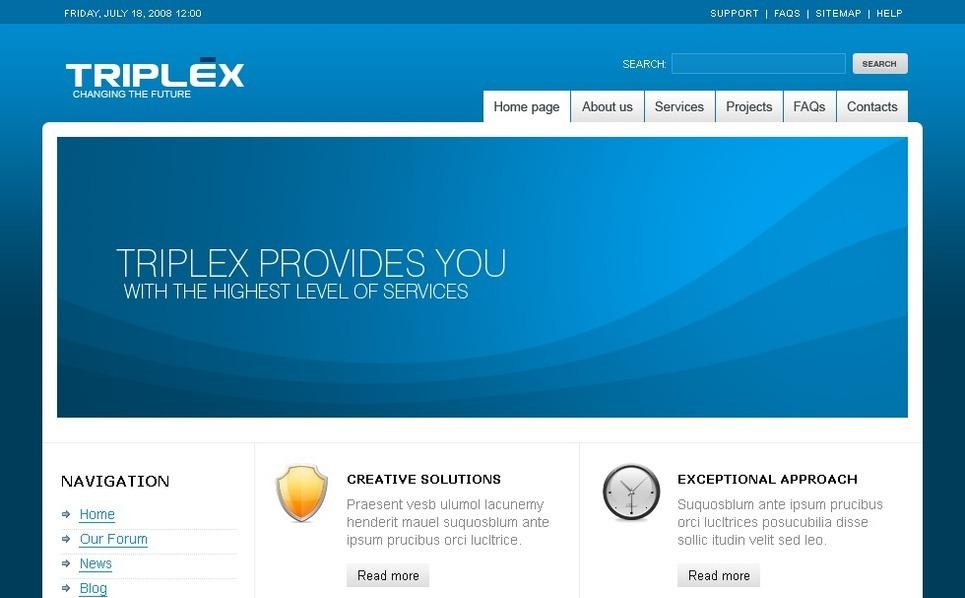 Plantilla PSD #50162 para Sitio de Negocio y Servicios New Screenshots BIG