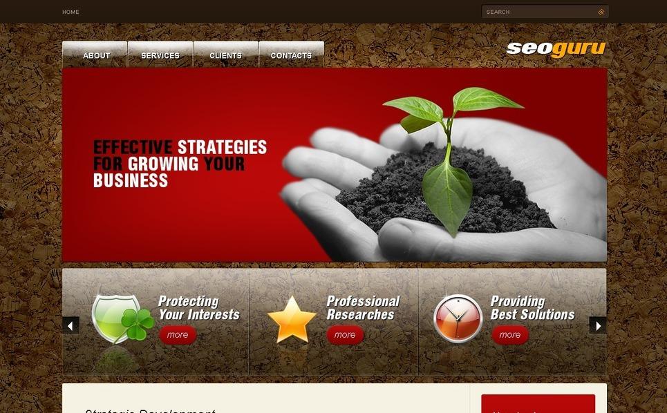 Szablon PSD #50167 na temat: agencja SEO New Screenshots BIG