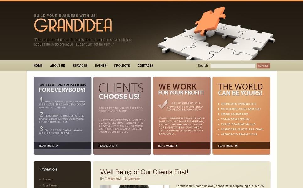 Plantilla PSD #50169 para Sitio de Negocio y Servicios New Screenshots BIG