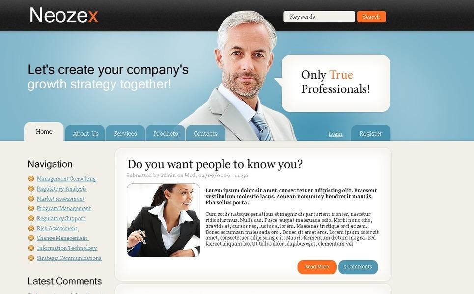 咨询公司网页PSD模板 New Screenshots BIG