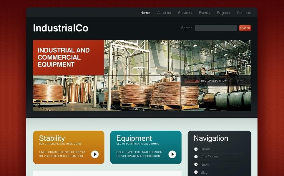Template Photoshop  para Sites de Industrial №50174 New Screenshots BIG