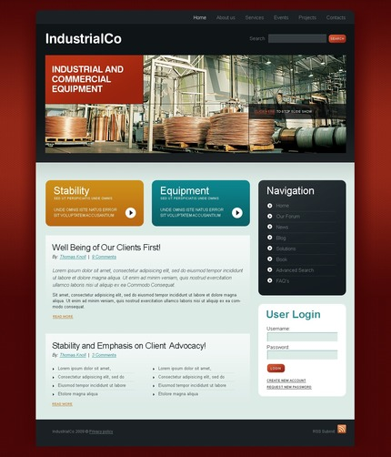 PSD макет сайта №50174