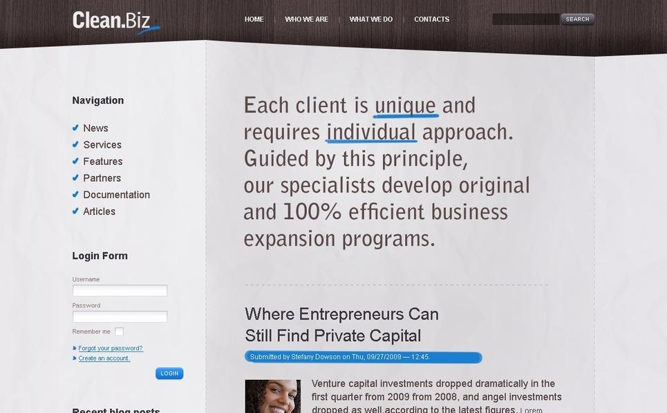 Szablon PSD #50180 na temat: biznes i usługi New Screenshots BIG