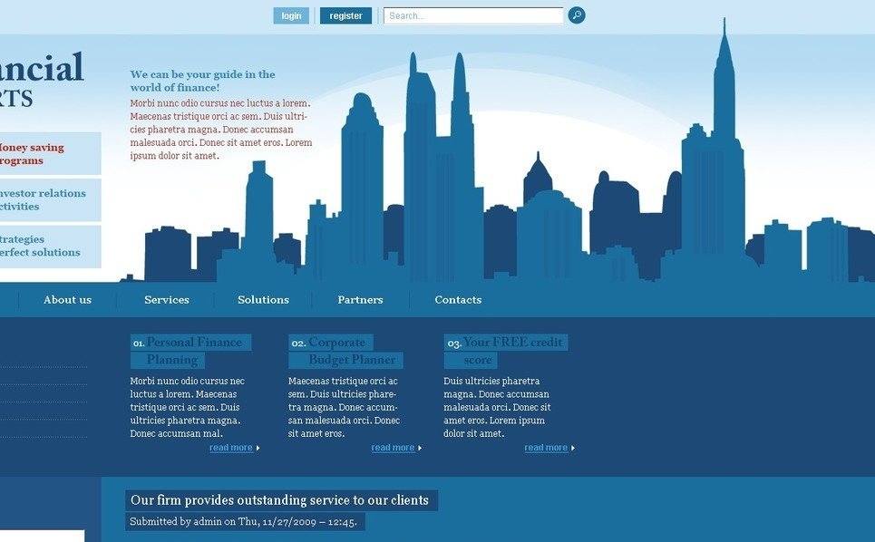 Szablon PSD #50185 na temat: doradca finansowy New Screenshots BIG