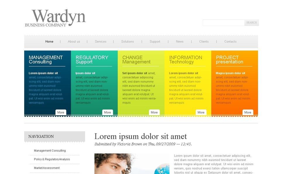 PSD шаблон №50187 на тему Бизнес и услуги New Screenshots BIG