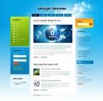 Web design PSD  Template 50198