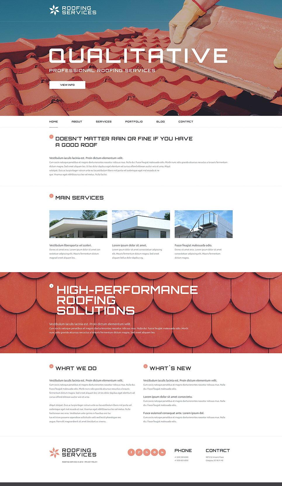 Адаптивный шаблон сайта на тему домашний ремонт #50105