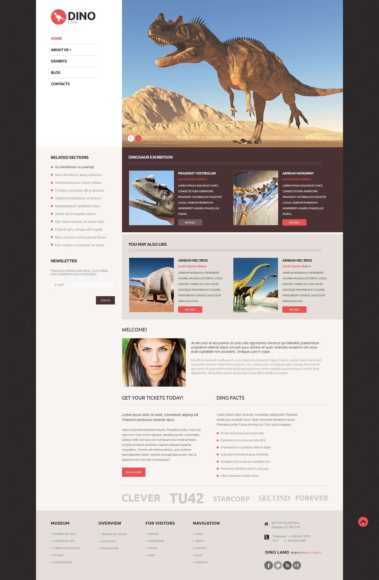 Адаптивный WordPress шаблон №50120 на тему музей