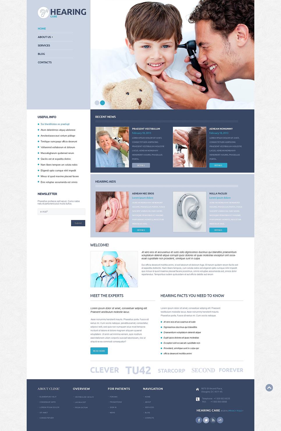 Адаптивный шаблон сайта на тему врач #50123