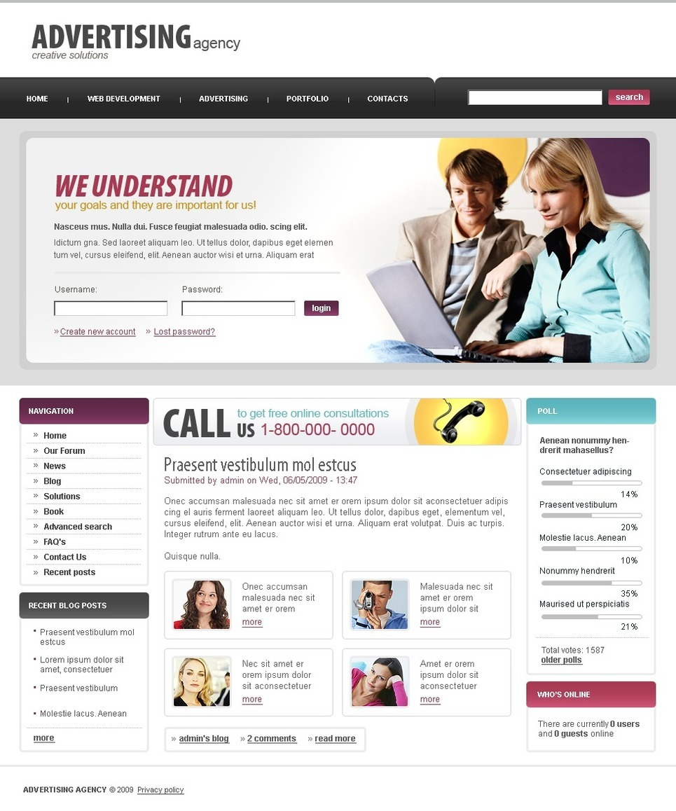 Advertising Agency PSD Template New Screenshots BIG