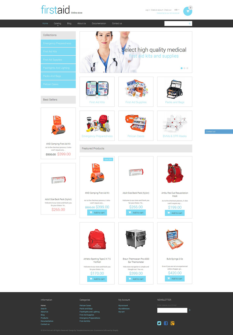 Ambulance Responsive Shopify Theme New Screenshots BIG