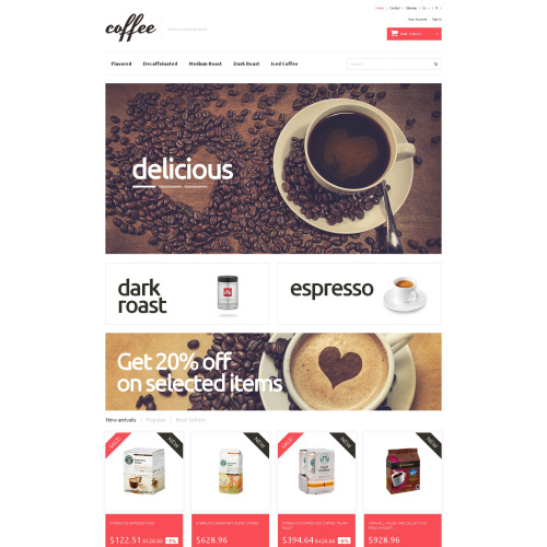 Coffee  House - PrestaShop Template based on Bootstrap