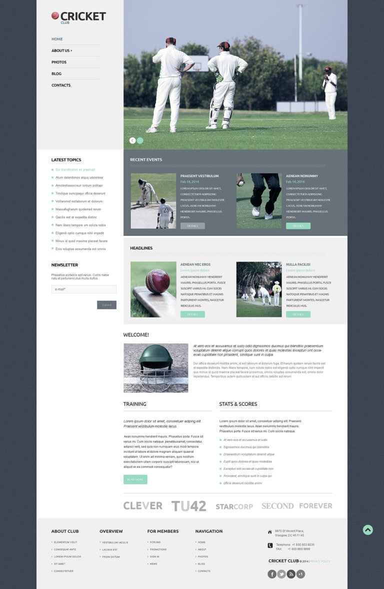 Cricket Responsive WordPress Theme New Screenshots BIG