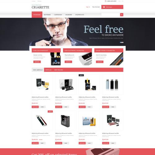 Electronic Cigarette - PrestaShop Template based on Bootstrap