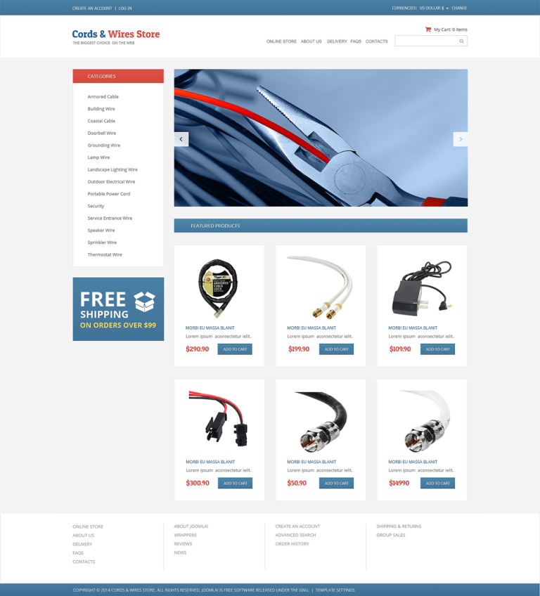 Electronics Store VirtueMart Template New Screenshots BIG