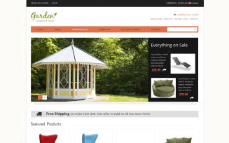 Garden Furniture VirtueMart Template