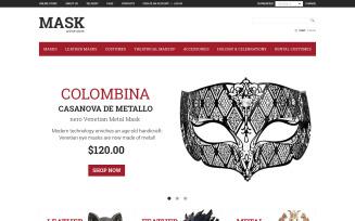 Masquerade Mask VirtueMart Template