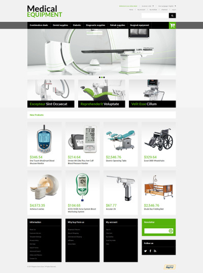 Medical Equipment Magento Theme