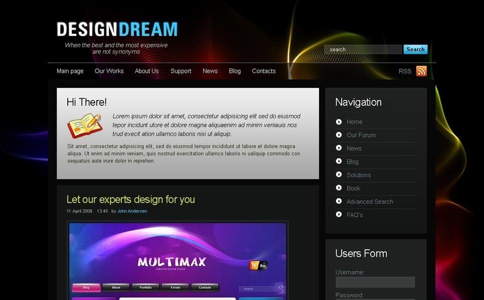 PSD šablona Designové studio New Screenshots BIG