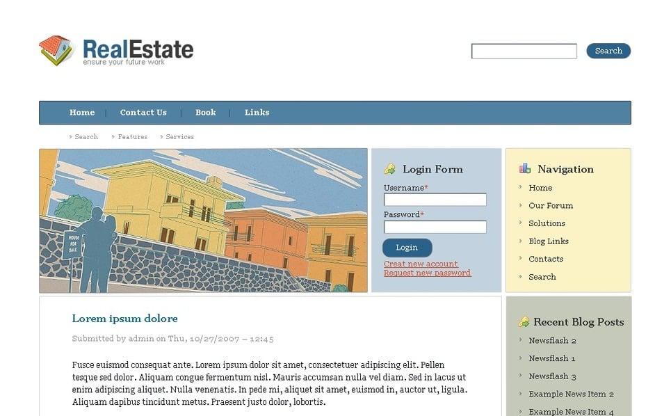 PSD Template over Makelaarskantoor New Screenshots BIG