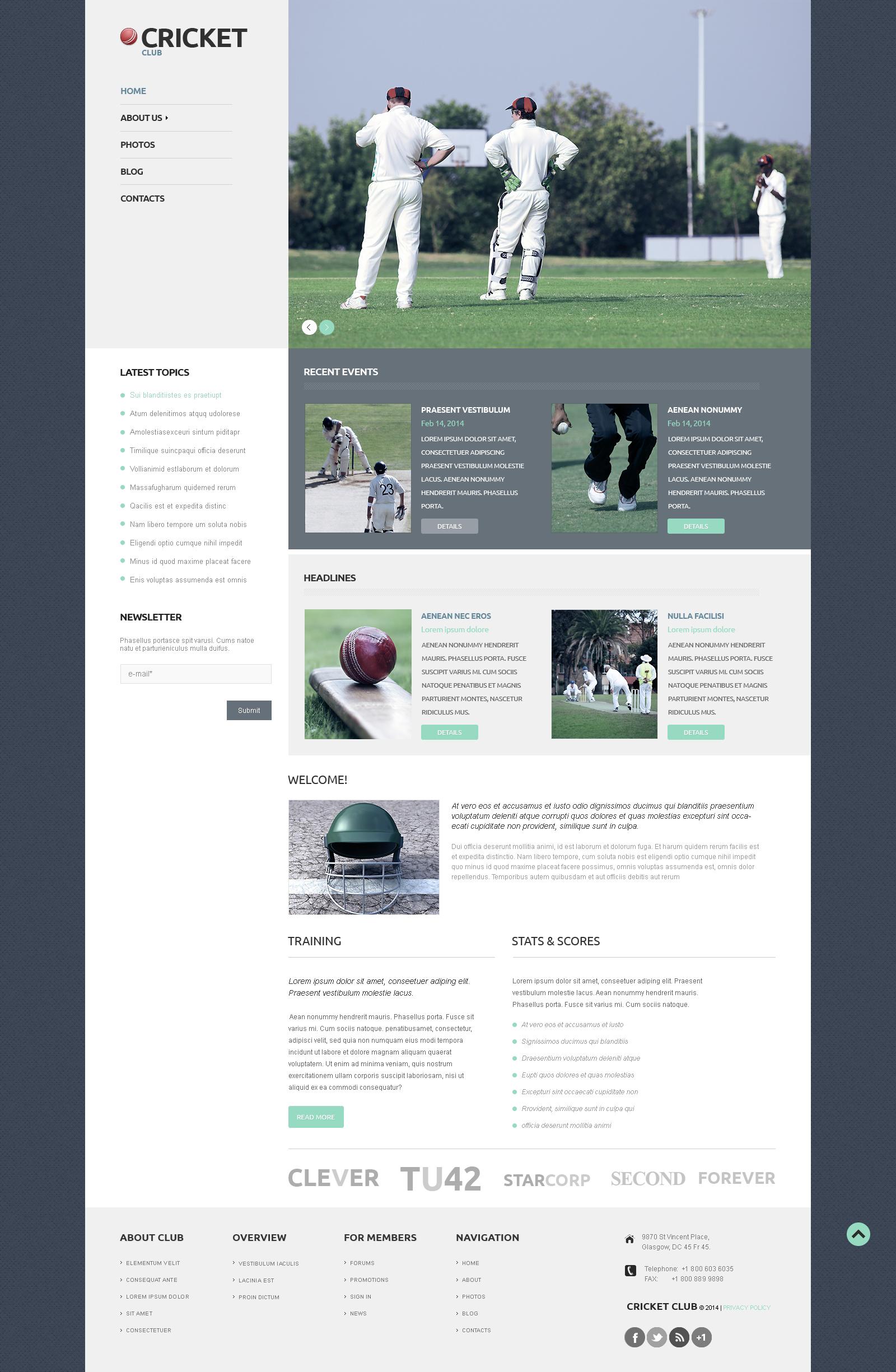 Responzivní WordPress motiv na téma Kriket #50121
