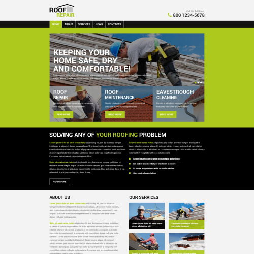 Roofing Company - HTML5 WordPress Template