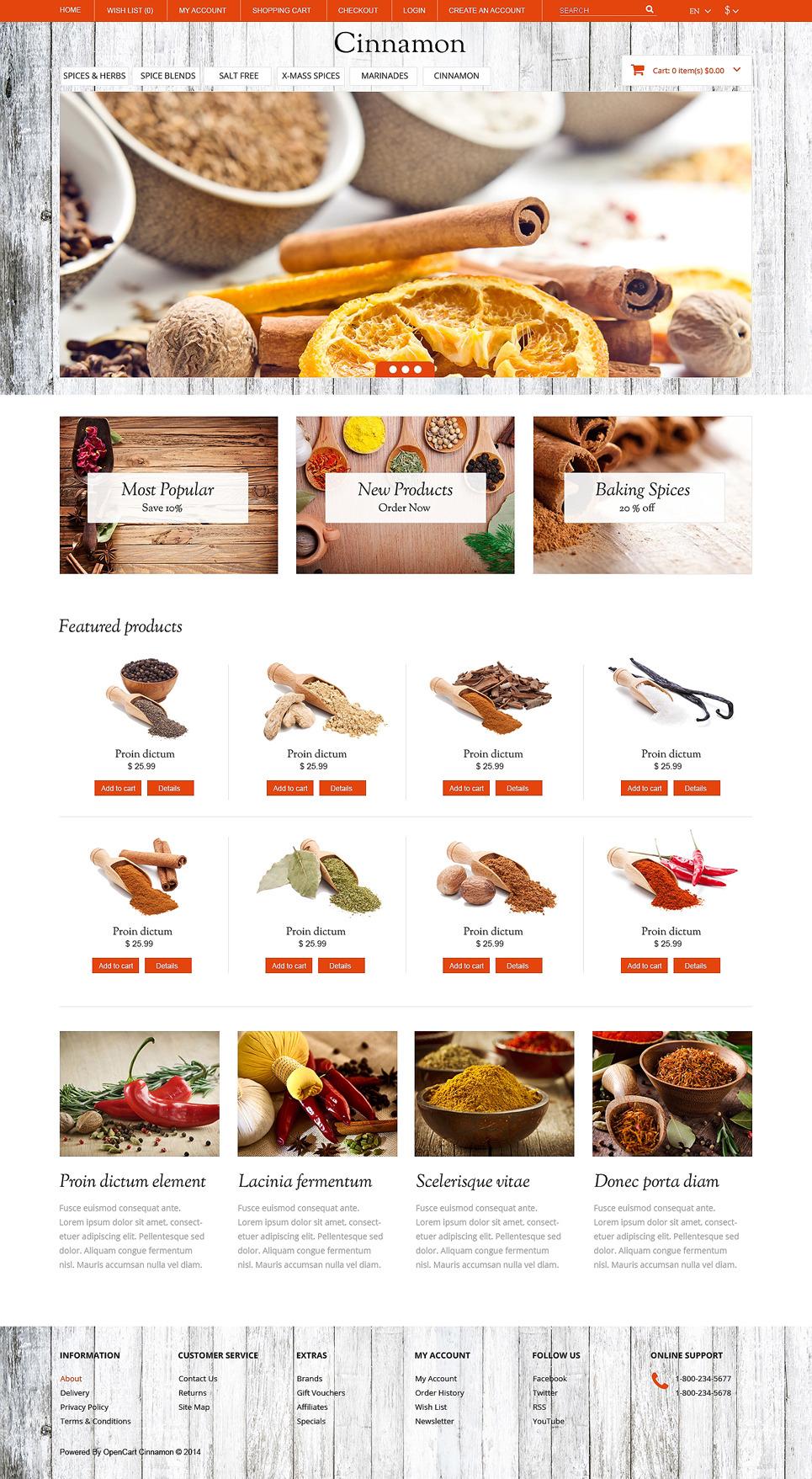 Spice Shop Responsive OpenCart Template New Screenshots BIG