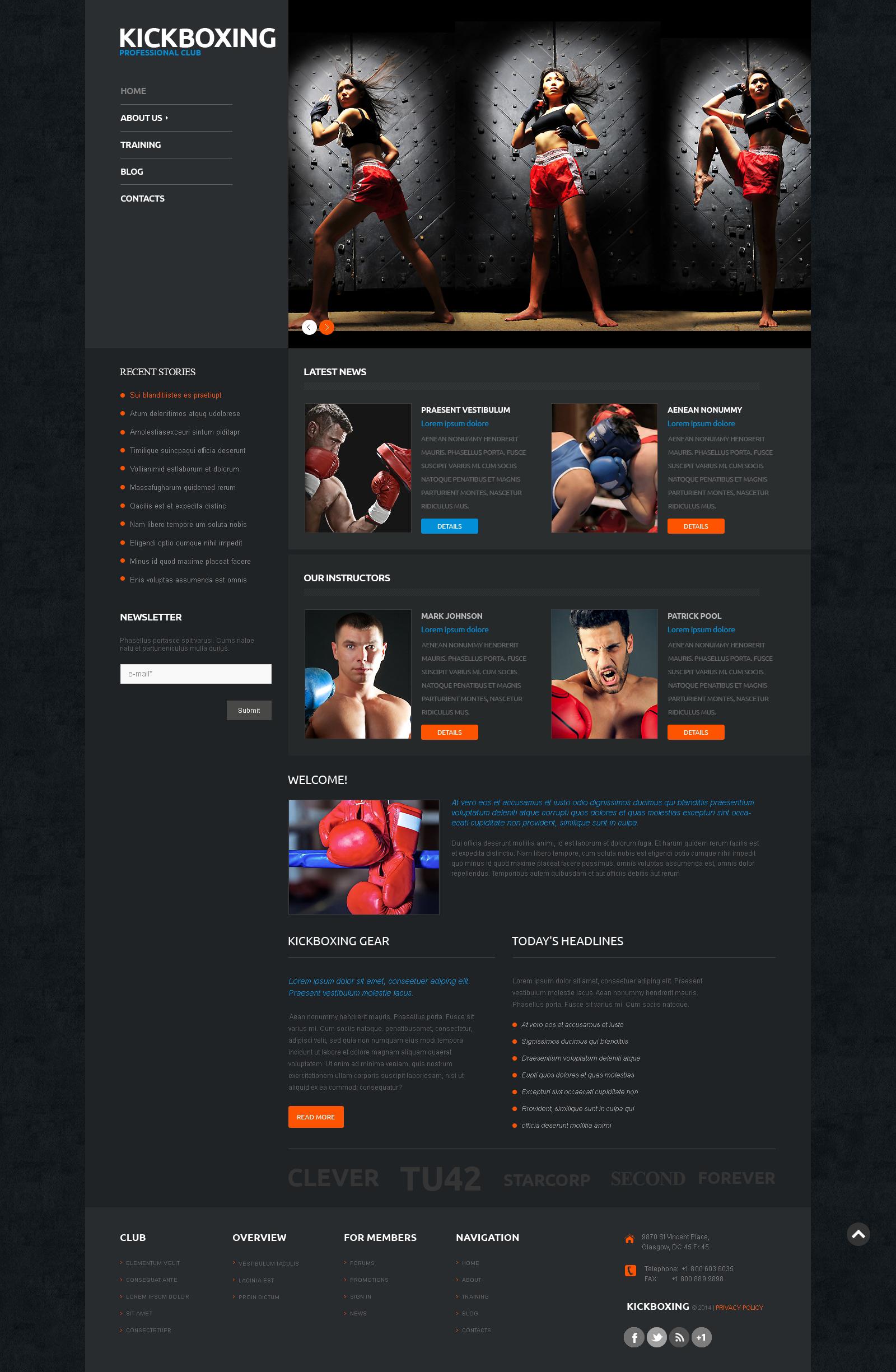 Tema WordPress Flexível para Sites de Boxe №50122
