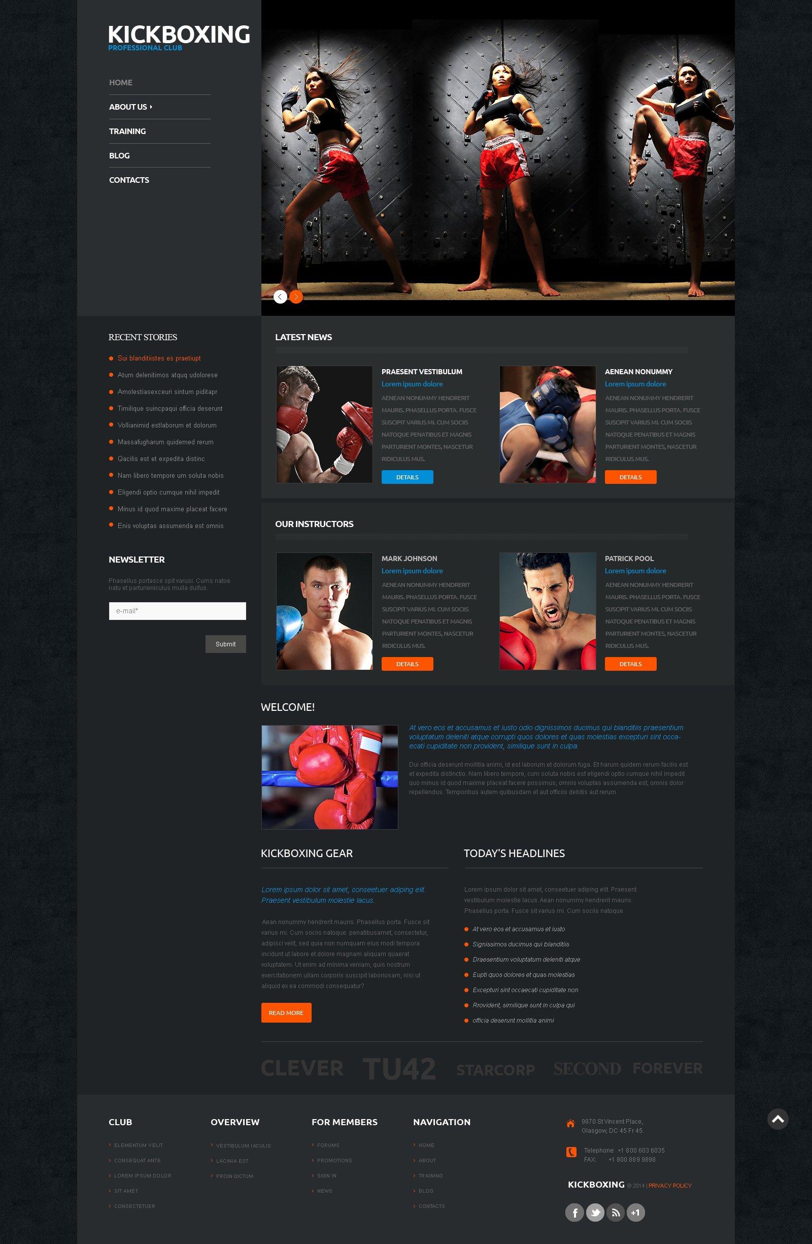 Template WordPress Responsive #50122 per Un Sito di Boxe - screenshot
