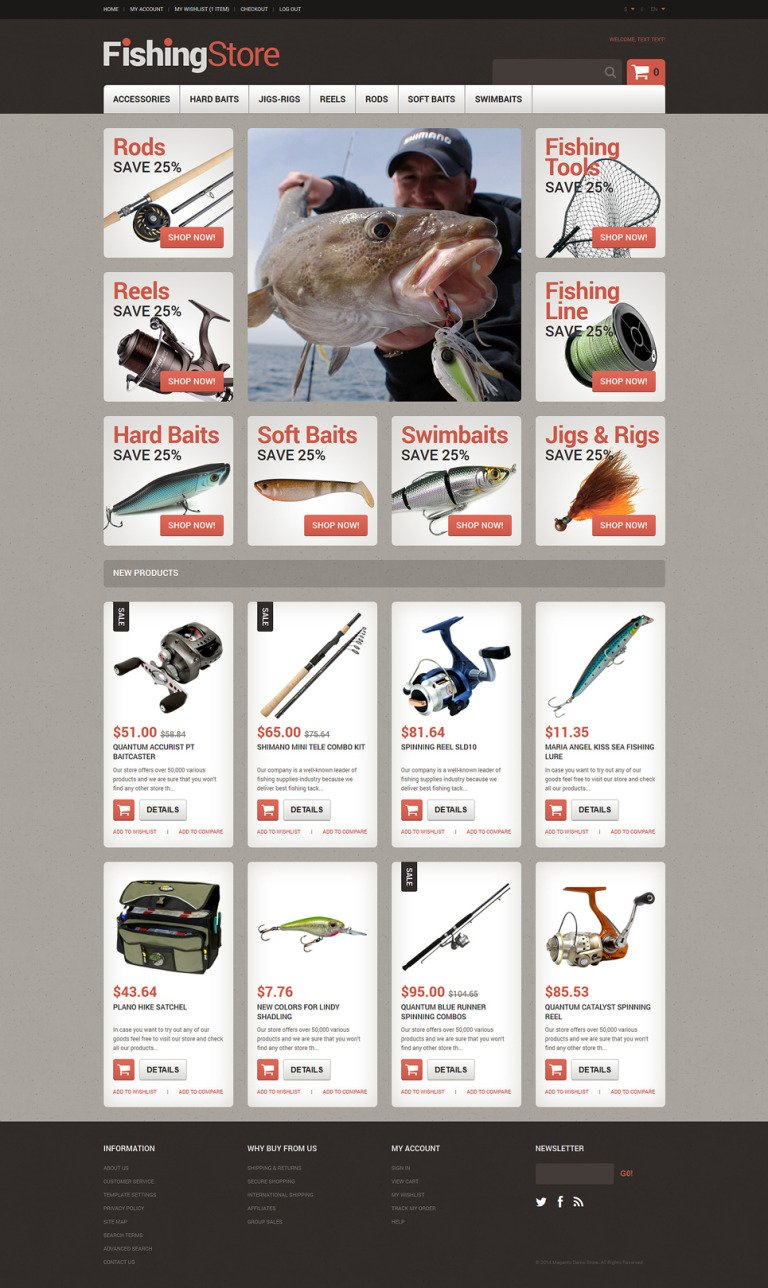 Useful Fishing Accessories Magento Theme New Screenshots BIG