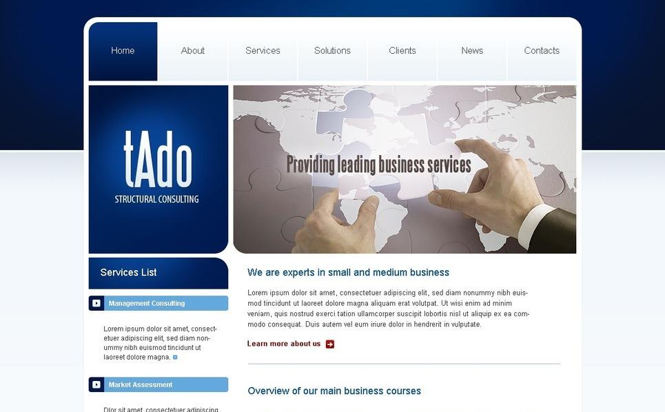 Üzlet és szolgáltatások PSD sablon New Screenshots BIG