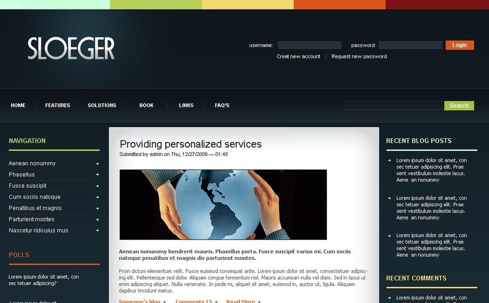 Tema PSD  #50205 per Un Sito di Business e Servizi New Screenshots BIG