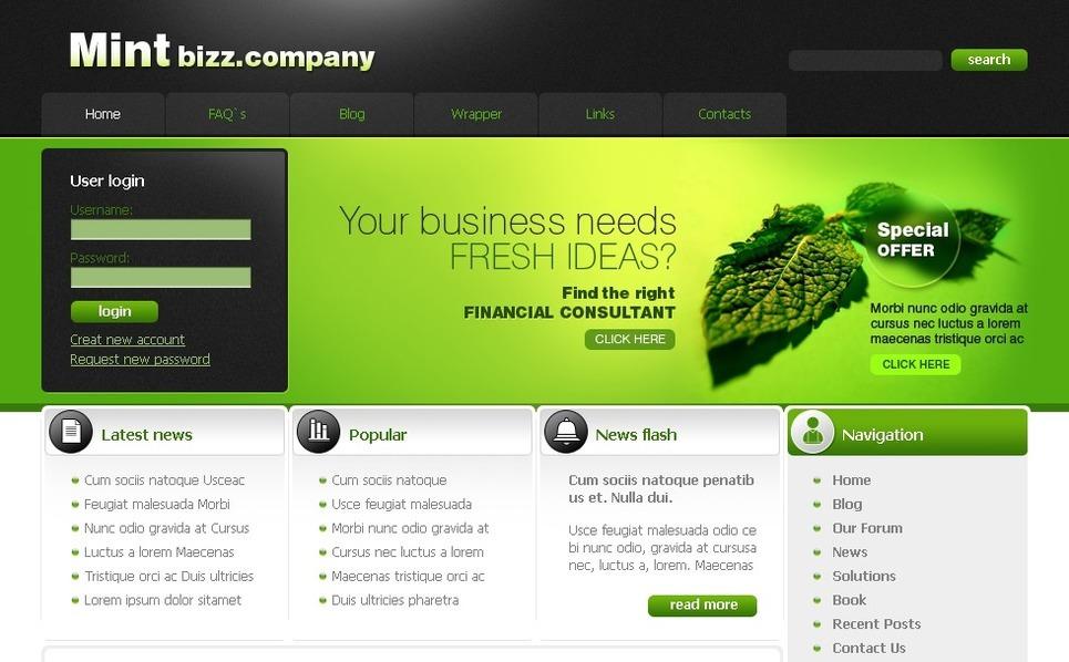 Modello PSD  #50210 per Un Sito di Business e Servizi New Screenshots BIG