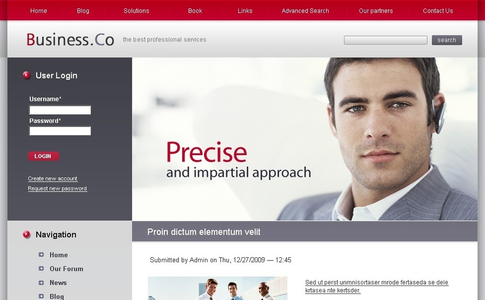 Plantilla PSD #50211 para Sitio de Negocio y Servicios New Screenshots BIG