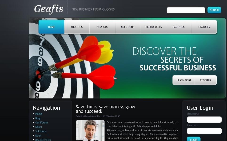 Szablon PSD #50213 na temat: biznes i usługi New Screenshots BIG