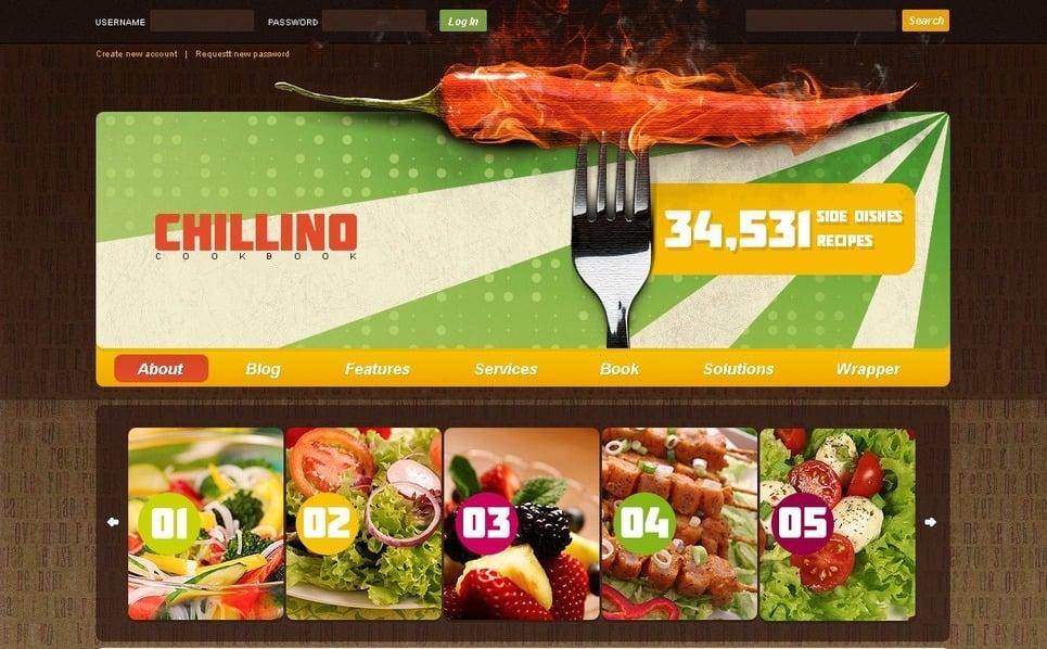 PSD шаблон на тему кулінарія New Screenshots BIG