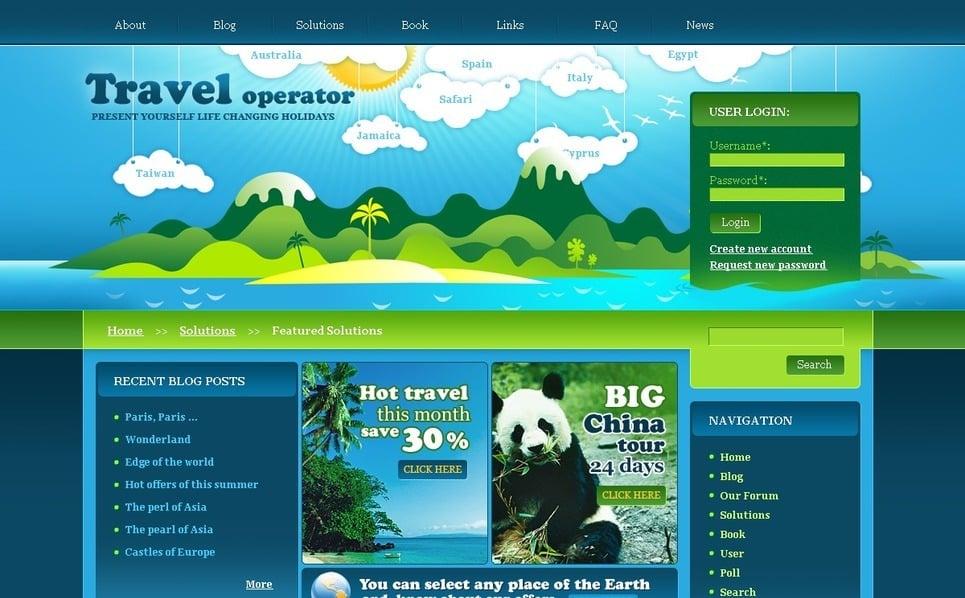 Template Photoshop  para Sites de Agencia de Viagens №50217 New Screenshots BIG