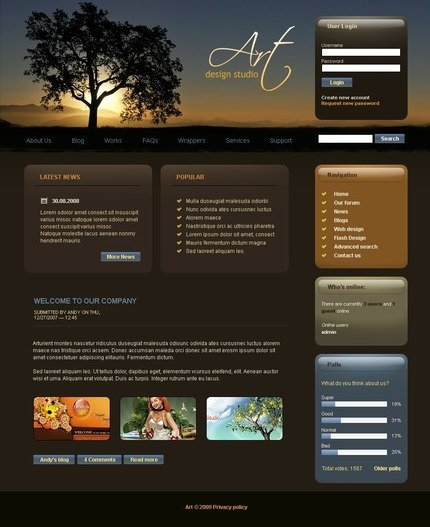 ADOBE Photoshop Template 50218 Home Page Screenshot