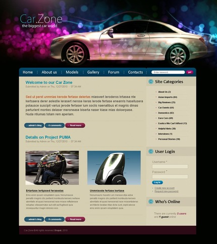 PSD макет сайта №50219