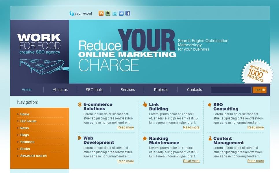 PSD Vorlage für SEO Website  New Screenshots BIG
