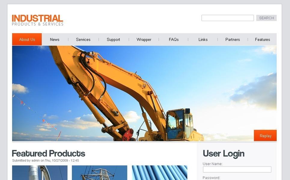 Szablon PSD #50226 na temat: przemysł New Screenshots BIG