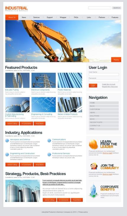 PSD макет сайта №50226