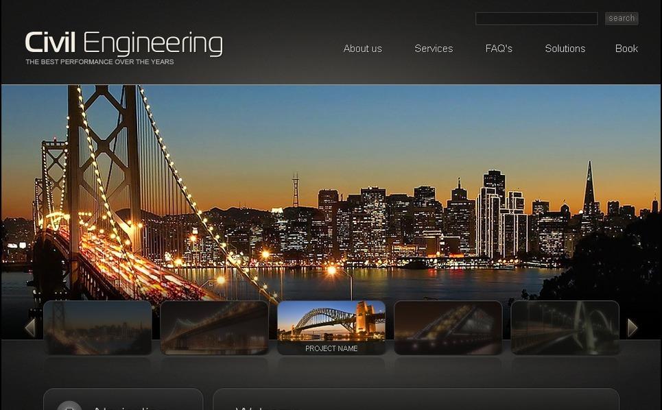 Szablon PSD #50227 na temat: inżynieria lądowa New Screenshots BIG