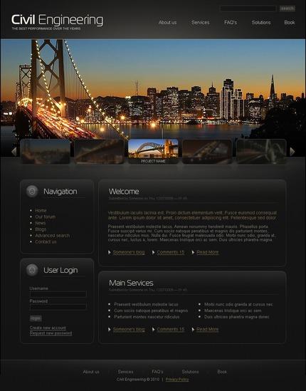 PSD макет сайта №50227