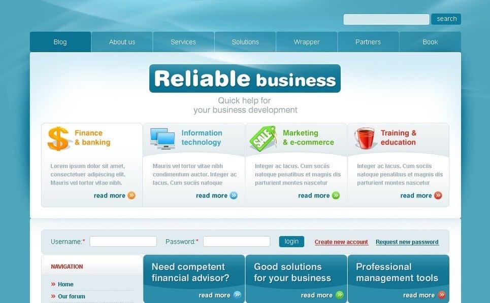 Modello PSD  #50228 per Un Sito di Business e Servizi New Screenshots BIG