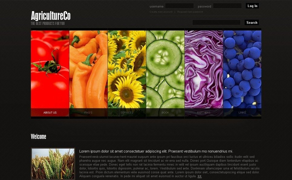 Template Photoshop  para Sites de Agricultura №50234 New Screenshots BIG